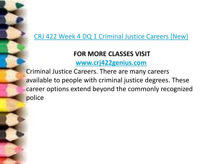 crj 422 criminal justice capstone Crj 422 week 1 discussion 2 final capstone project preparation review the final capstone project in week five and select the issue in social and criminal justice that you will address identify and develop your thesis statement and your resolution for your chosen issue.