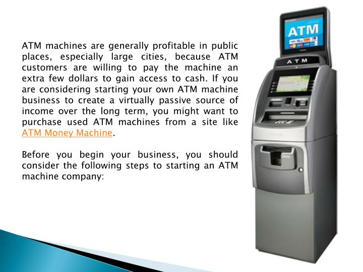 how to own a atm machine