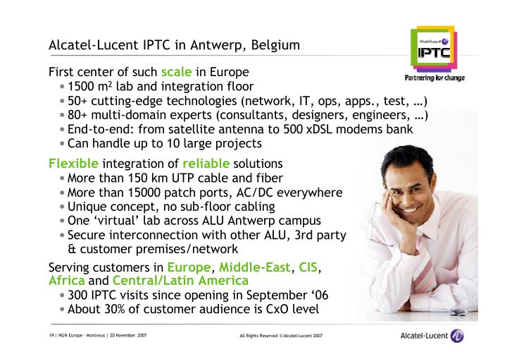 Alcatel-Lucent IPTC in Antwerp, Belgium
