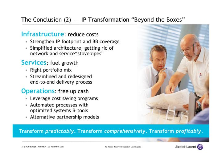 "The Conclusion (2)  — IP Transformation ""Beyond the Boxes"""