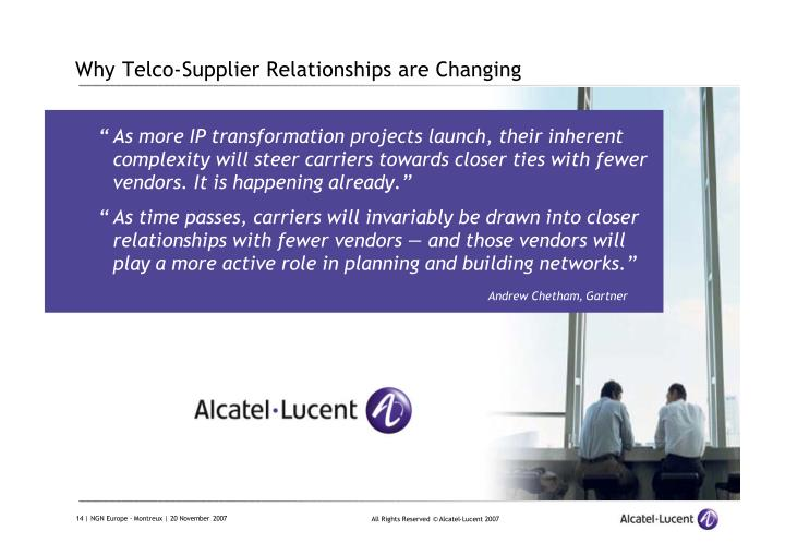 Why Telco-Supplier Relationships are Changing