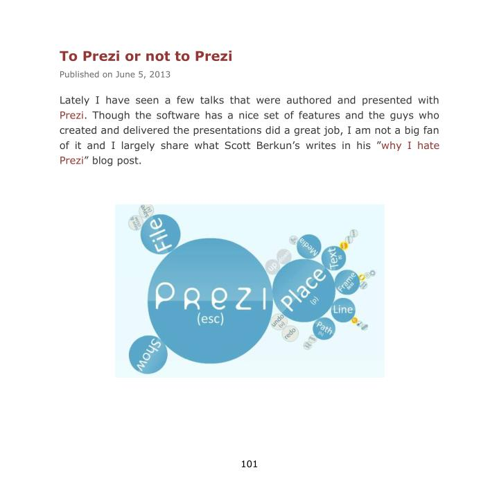 To Prezi or not to Prezi