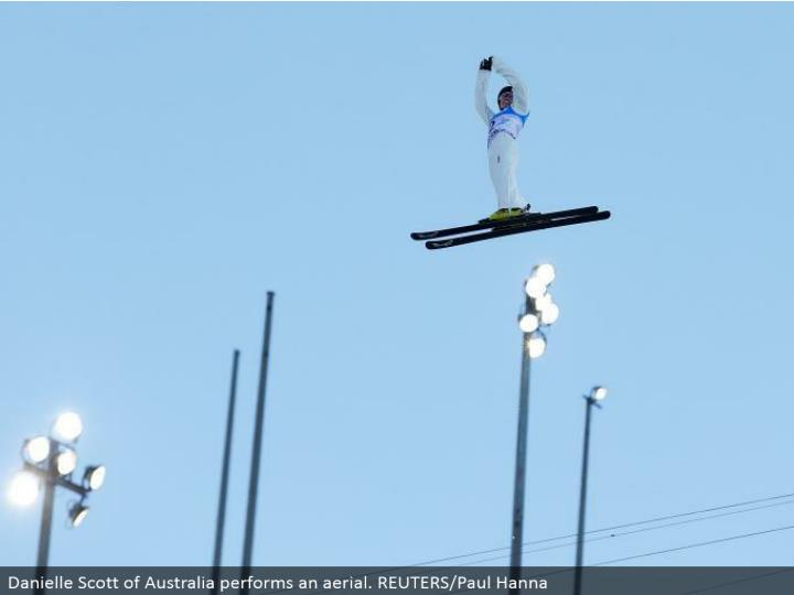 Danielle Scott of Australia plays out an elevated. REUTERS/Paul Hanna