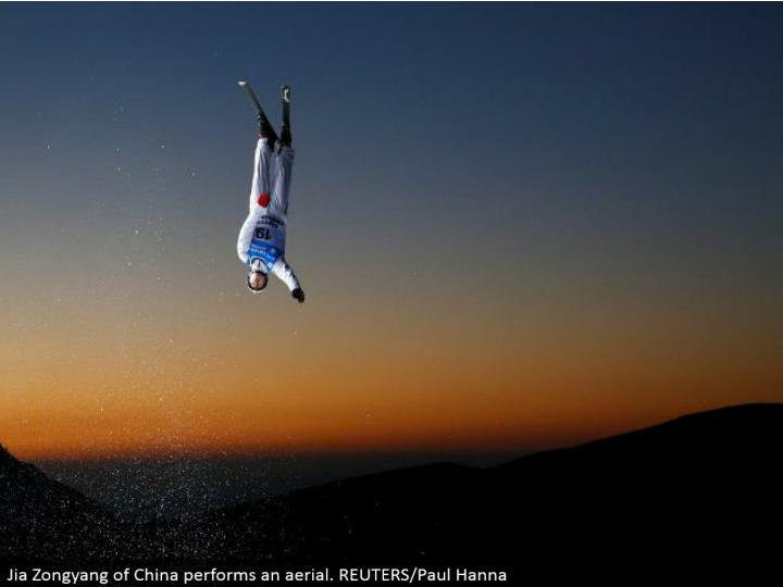 Jia Zongyang of China plays out an aeronautical. REUTERS/Paul Hanna