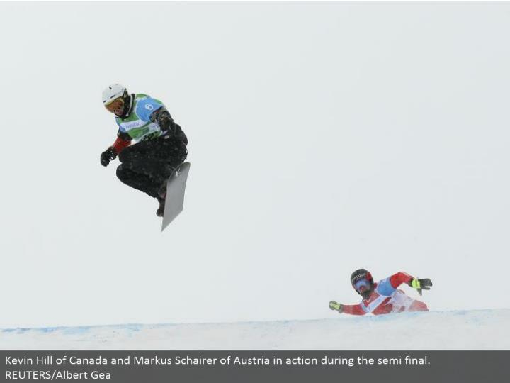 Kevin Hill of Canada and Markus Schairer of Austria in real life amid the semi last. REUTERS/Albert Gea