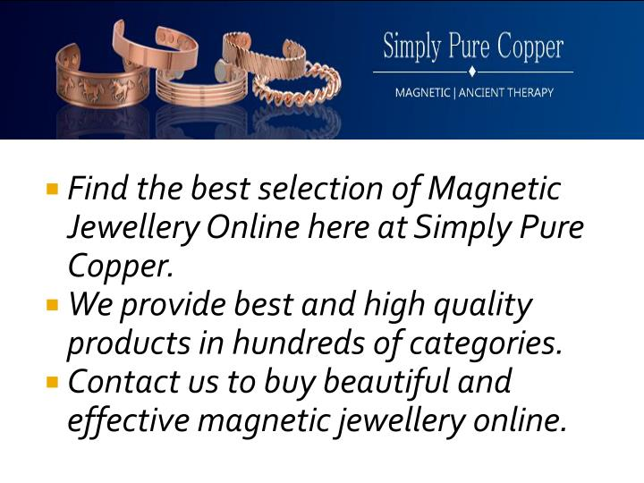 Ppt magnetic jewellery online store usa buy magnetic for Best online store usa