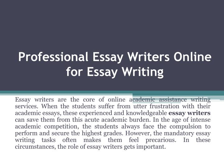 writers professonal essay writers