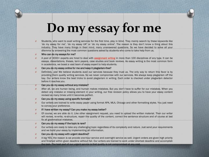 Do my essay online