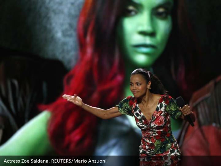 Actress Zoe Saldana. REUTERS/Mario Anzuoni