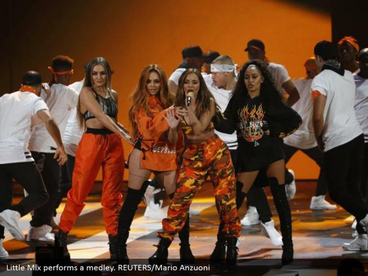 Little Mix plays out a mixture. REUTERS/Mario Anzuoni
