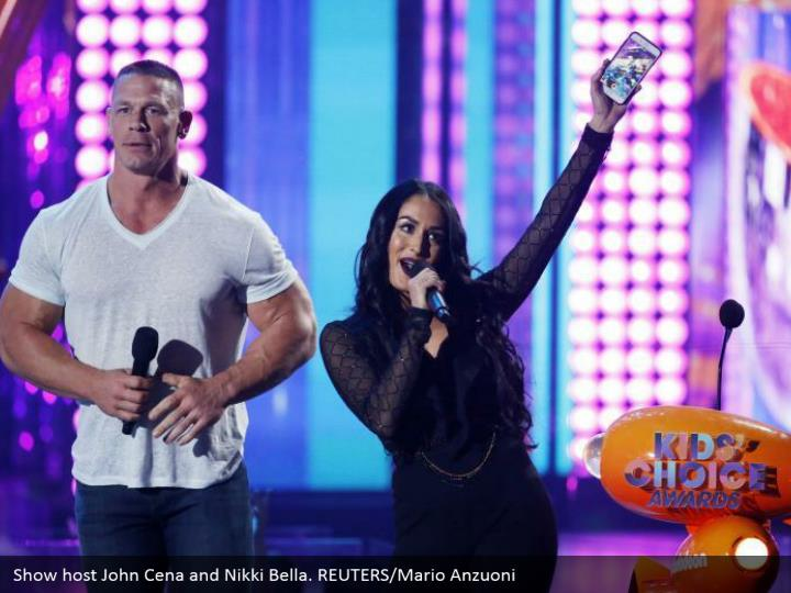 Show have John Cena and Nikki Bella. REUTERS/Mario Anzuoni