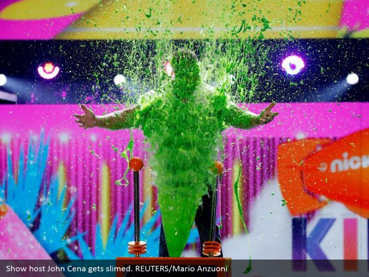 Show have John Cena gets smeared. REUTERS/Mario Anzuoni