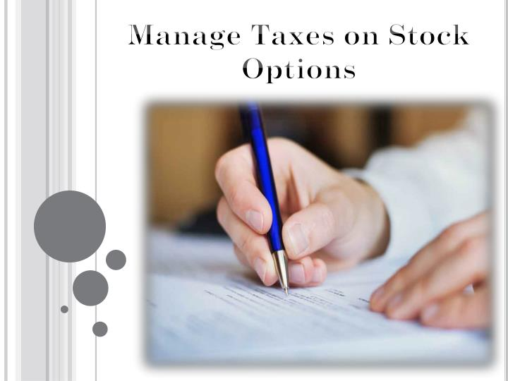 Taxes associated with exercising stock options
