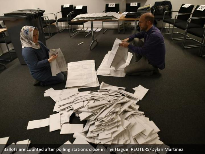 Ballots are included subsequent to surveying stations close The Hague. REUTERS/Dylan Martinez