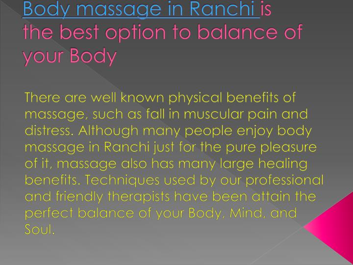 an analysis on getting a massage regularly has numerous benefits for all people How often you should get a massage depends on several factors,  this is not  necessary for the benefit, but for an occasion when you want to.