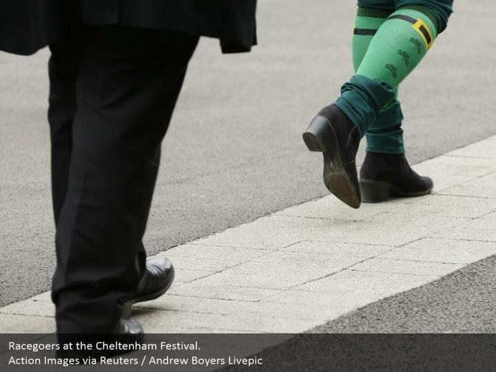 Racegoers at the Cheltenham Festival. Activity Images through Reuters/Andrew Boyers Livepic