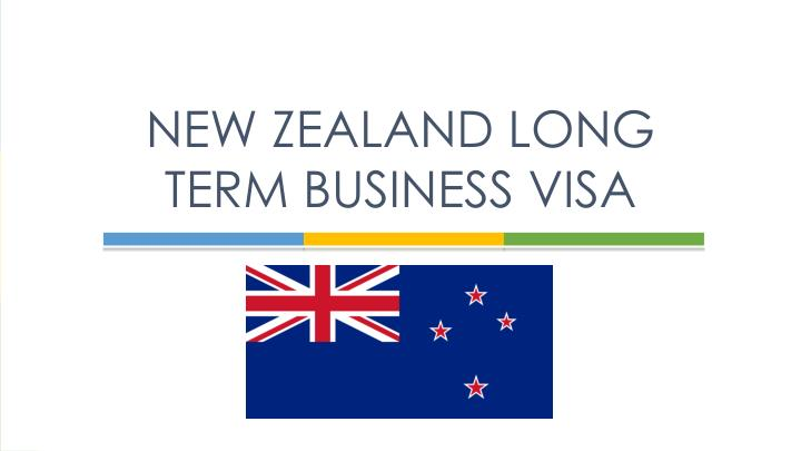 Long-Term Business Visa