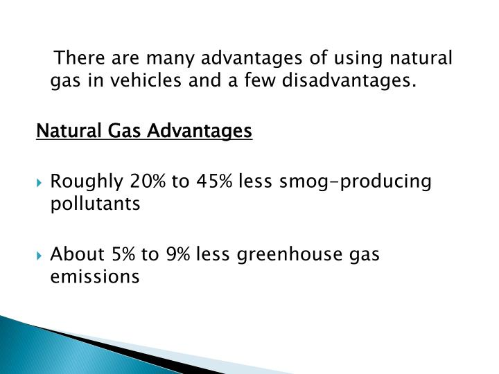 Advantages Of Using Natural Gas To Fuel Vehicles