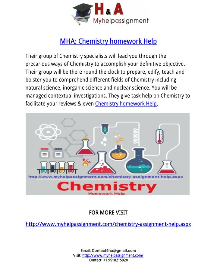 Chemisty homework help