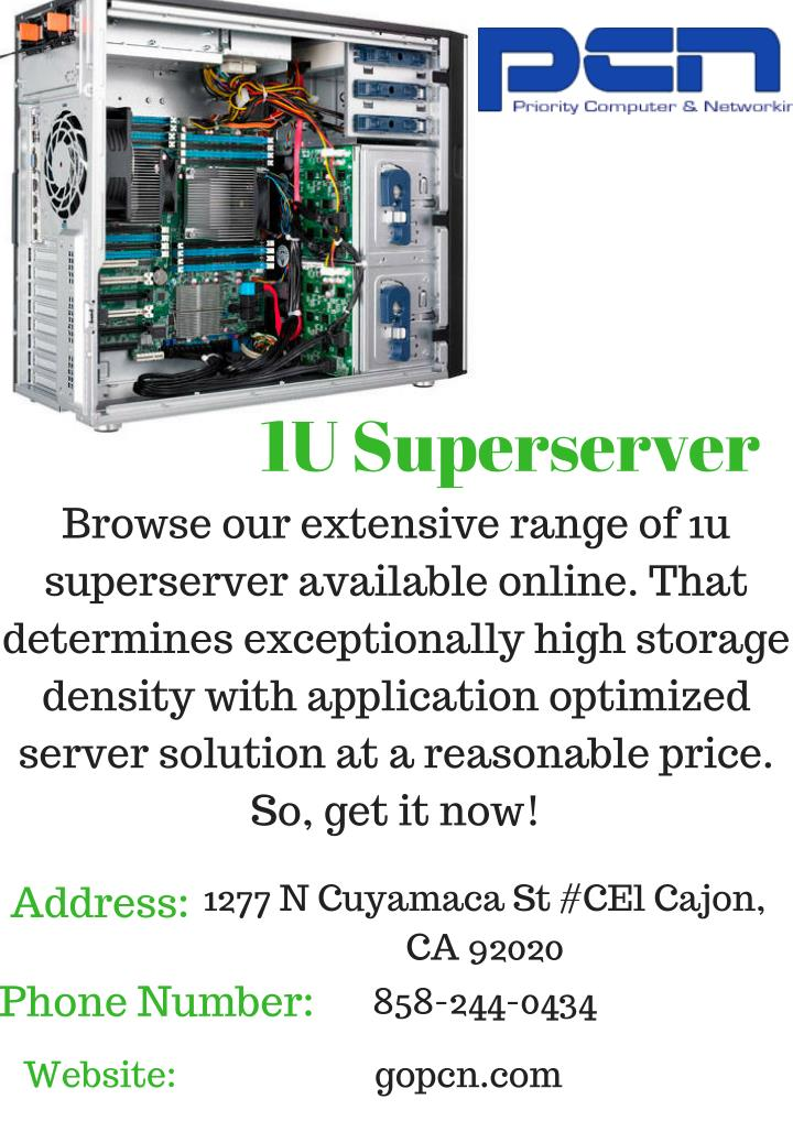1u superserver browse our extensive range
