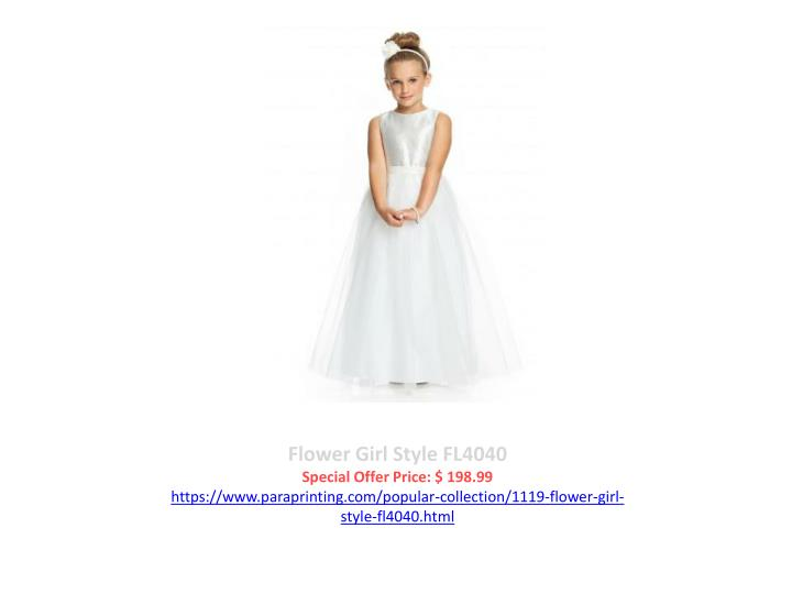 Flower girl style fl4040 special offer price