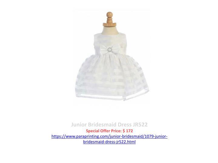 Junior Bridesmaid Dress JR522