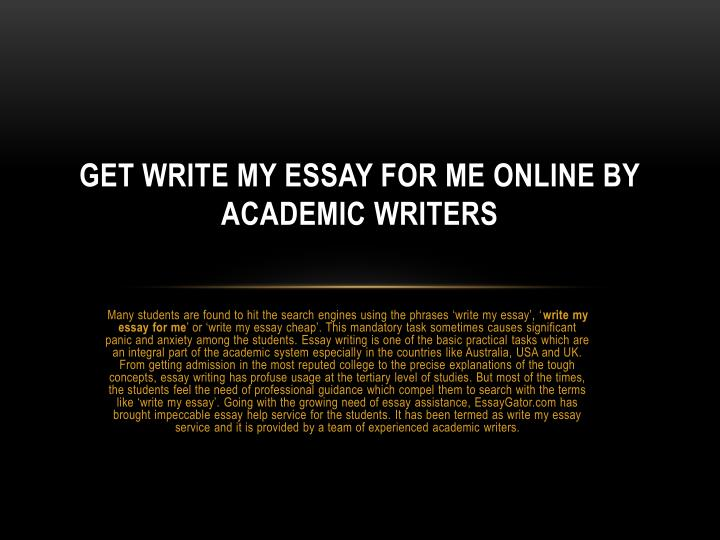 Write my essay for me free online