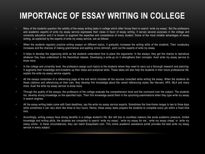Significance essay writing