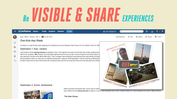 VISIBLE & SHARE