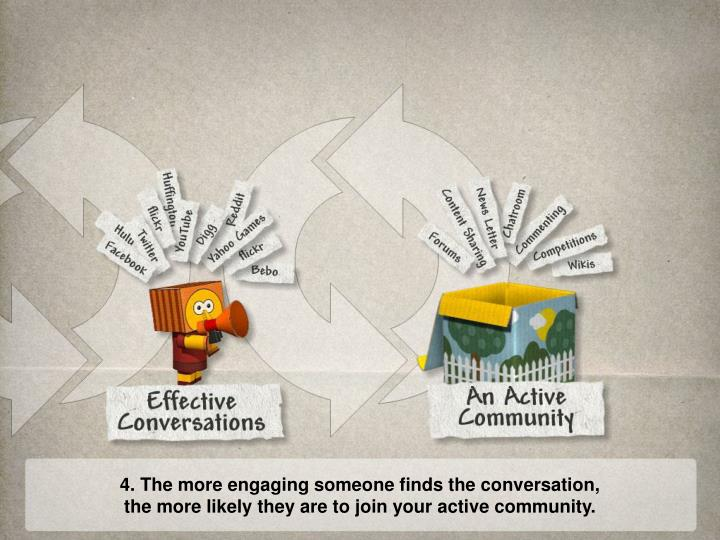 4. The more engaging someone finds the conversation,