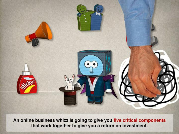 An online business whizz is going to give you