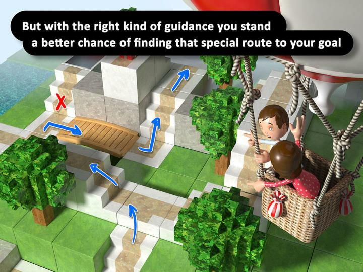 But with the right kind of guidance you stand a better chance of finding that special route to your goal.