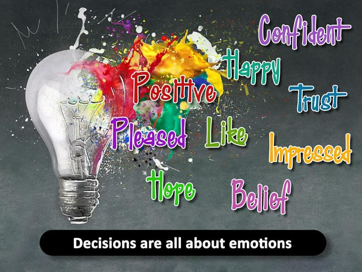 Decision drivers are all about emotions.
