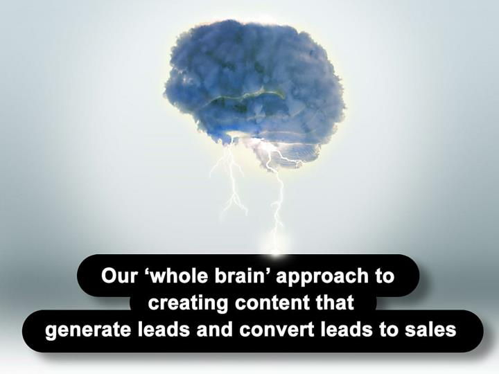 Our whole brain approach to creating content that