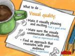 visual quality make it visually pleasing