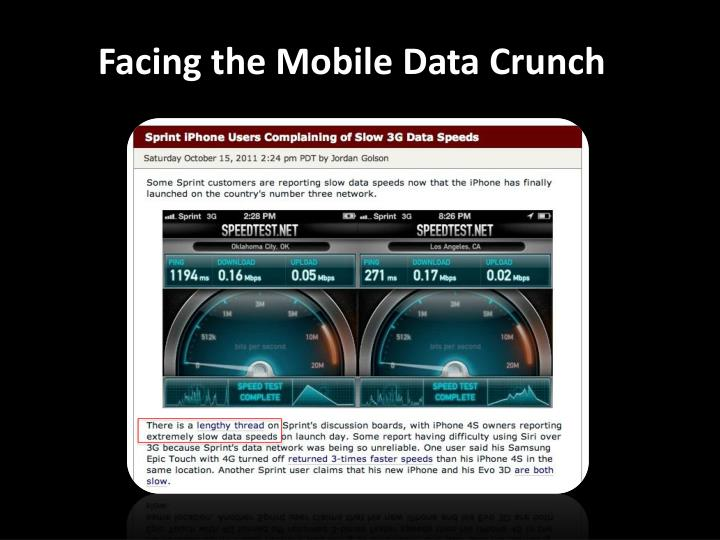 Facing the mobile data crunch