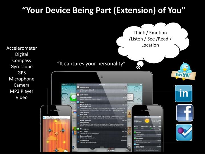 """Your Device Being Part (Extension) of You"""