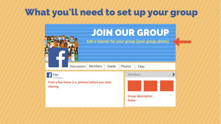 What you'll need to set up your group