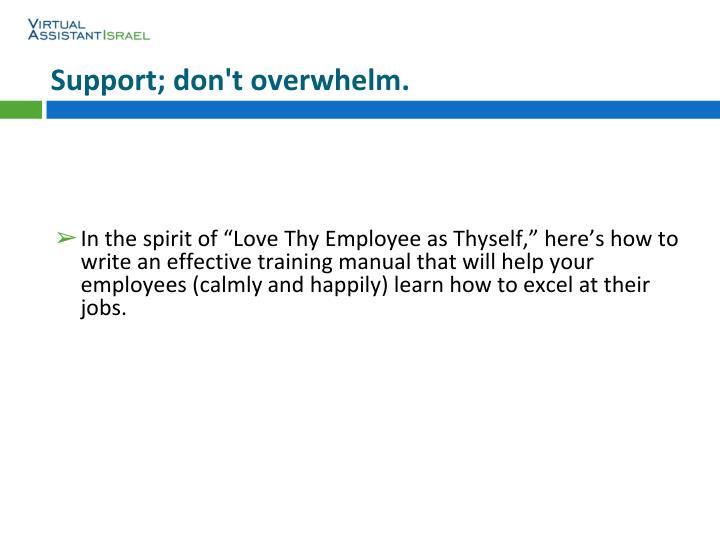 How do you write a training manual