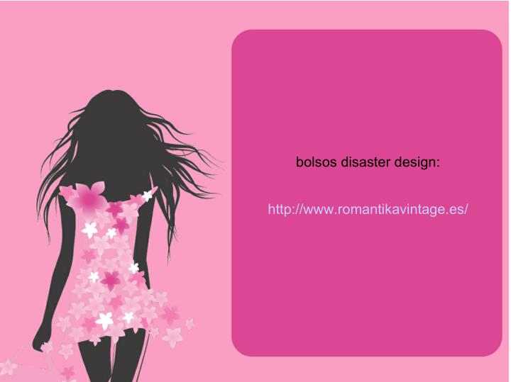 bolsos disaster design: