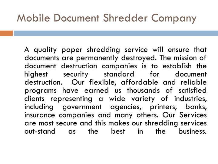 Start a Shredding Business
