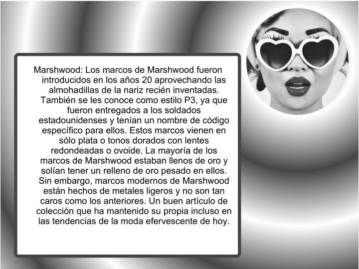 Marshwood: Los marcos de Marshwood fueron