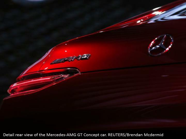 Detail rear view of the Mercedes-AMG GT Concept car. REUTERS/Brendan Mcdermid