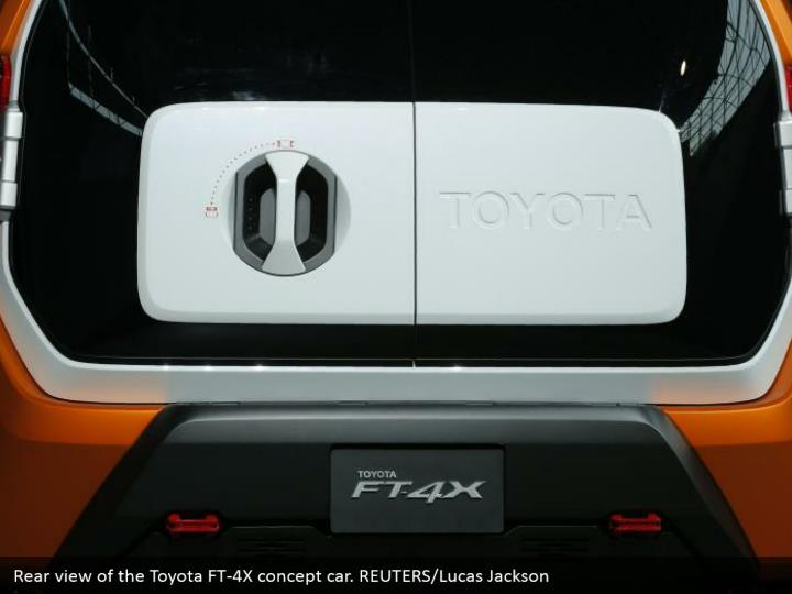 Rear view of the Toyota FT-4X concept car. REUTERS/Lucas Jackson