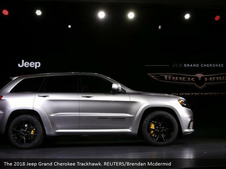 The 2018 Jeep Grand Cherokee Trackhawk. REUTERS/Brendan Mcdermid