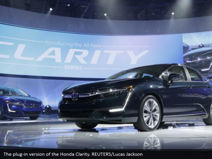 The plug-in version of the Honda Clarity. REUTERS/Lucas Jackson