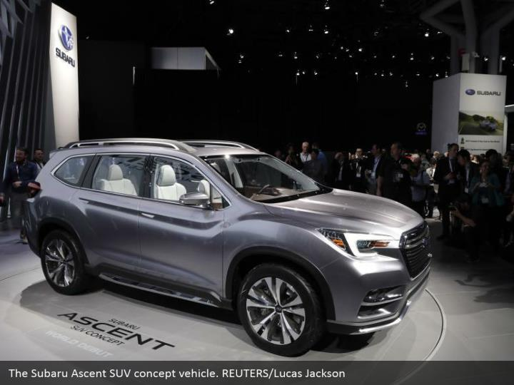 The Subaru Ascent SUV concept vehicle. REUTERS/Lucas Jackson