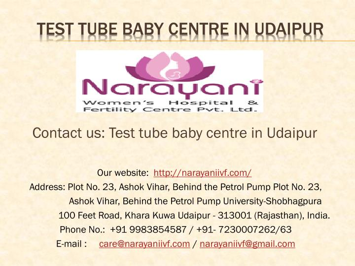 Contact us: Test tube baby centre in Udaipur