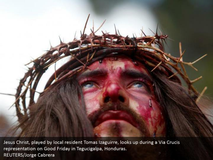 Jesus christ played by local resident tomas