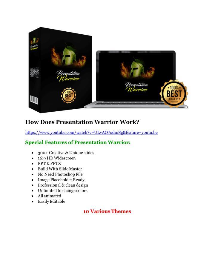 How Does Presentation Warrior